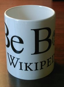 """Be Bold"" Wikipedia coffee mug"